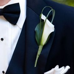 24 Elegant Ideas To Incorporate Calla Lilies Into Your Spring Wedding groom boutonnière