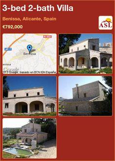 3-bed 2-bath Villa in Benissa, Alicante, Spain ►€792,000 #PropertyForSaleInSpain