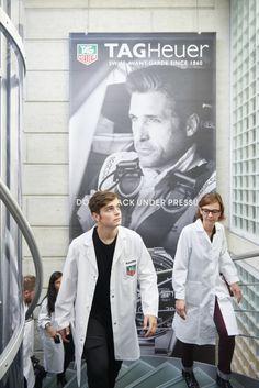 Martin Garrix en visite chez TAG Heuer
