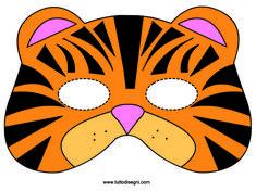 MASCHERE DI CARNEVALE | Maschera di Carnevale - Tigre - TuttoDisegni.com