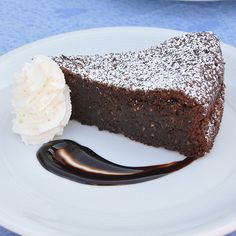 Torta Caprese...a flourless chocolate cake popular on the Isle of Capri and along the Amalfi Coast.