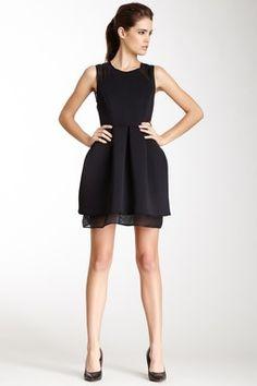 Kaelen NYC Neoprene Mesh Combo Dress