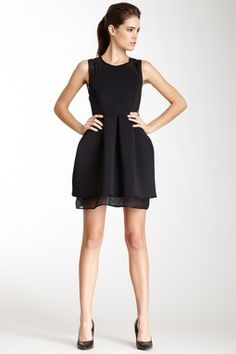 Kaelen NYC Neoprene Mesh Combo Dress