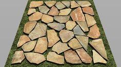 Visualização grande do modelo 3D de stone paving