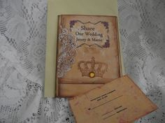 Distress Invitation Shabby Chic Style  RSVP Card Back by mslizz, $60.00