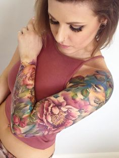 The Flowery Tattoos Of Lianne Moule