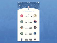"""TOP 5 of my 30 day UI Challenge -> NBA App - animated.  Whole challenge here: http://bit.ly/1m4TvKX  Press """"L"""" if you like this shot! Thanks  STRV Academy"""