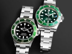 Rolex Kermit vs Rolex Hulk: What's the Difference?You can find Rolex watches and more on our website.Rolex Kermit vs Rolex Hulk: What's the Difference? Rolex Submariner Gold, Rolex Datejust Ii, Submariner Watch, Rolex Gmt, Army Watches, Rolex Watches For Men, Modern Watches, Seiko Watches, Luxury Watches For Men