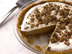 Bobby Flay's Pumpkin Pie with Cinnamon Crunch and Bourbon-Maple Whipped Cream from FoodNetwork.com
