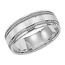 Lieberfarb 7mm Wide Comfort Fit Mens Wedding Ring