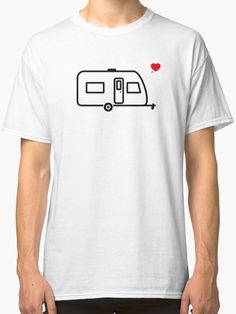 Something for you from our new camping collection. The perfect design for caravan lovers! Where Is Your Heart, Love S, Caravan, Classic T Shirts, Camping, Mens Tops, Stuff To Buy, Collection, Design