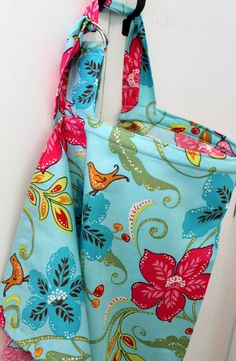 Nursing Cover  Turquoise Pink Floral Birds by KallieLilyS on Etsy, $20.00