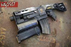 Modified Nerf Guns, Cool Nerf Guns, Nerf Darts, Nerf Mod, Borderlands 3, Concept Weapons, Cool Masks, Prop Design, Elm Street