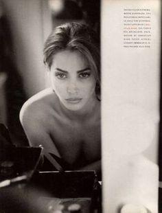 "VOGUE ITALIA 1989 October ""Bentornata Christy"" Model: Christy Turlington Photographer: Steven Meisel Hair: Oribe Makeup: Francois Nars"