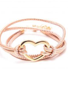 BEKA&BELL Armband Heart vergoldet