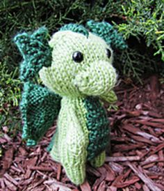 Ravelry: Mini Baby Dragon pattern by Ashley Collings Knitting Patterns Free, Baby Knitting, Crochet Patterns, Knitting Ideas, Dragon Pattern, Cat Pattern, Yarn Animals, Pets For Sale, Baby Dragon
