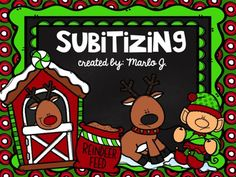 Subitizing with Ten and Twenty Frames.   Directions: The teacher quickly flashes {shows} the students the ten frame slide, then click the next (blank) slide. After quickly showing the slide the teacher has the students respond with what the number was. Christmas Themed