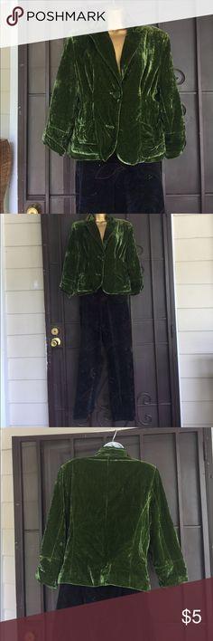 Velvet cropped jacket blazer Button missing Jackets & Coats Blazers