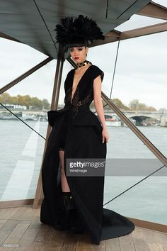 Jessica Minh Anh walks the Runway during the J Autumn Fashion Show 2015' : Jessica Minh Anh Transforms A Bateau Mouche Into A 'La Seine' Outdoor Catwalk In Paris on October 29, 2015 in Paris, France.