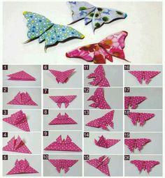Origami For Beginners Origami For Beginners Jumping Frog. Origami For Beginners Origami For Beginners Crown. Origami For Beginners Easy Paper Butterfl. Origami And Quilling, Origami And Kirigami, Paper Crafts Origami, Origami Art, Diy Paper, Easy Origami, Fabric Origami, Butterfly Kids, Butterfly Crafts