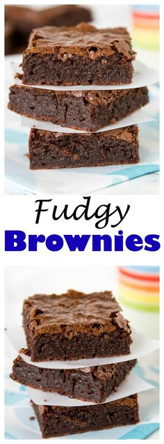 Fudgy Brownies - Rich and fudgy brownies from scratch! Super easy you will ditch the box mix.