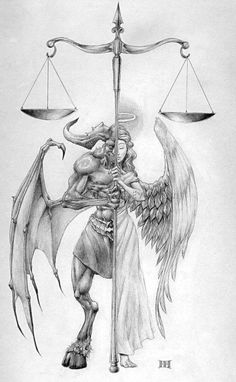 Image result for good and evil tattoos