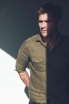 Scott Eastwood Poses for Nylon, Talks Love Scenes + San Diego Scott Eastwood, Brad Goreski, Hollywood Scenes, Hollywood Actresses, The Longest Ride, Britt Robertson, Love Scenes, Clip, Military Fashion