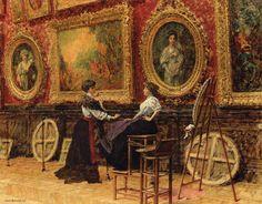 The Copiests, Musee du Louvre - Louis Beroud, 1909