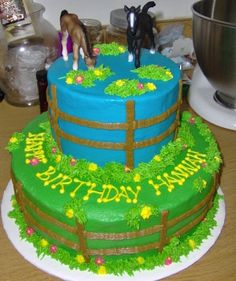 Horse Birthday Cake - The birthday boy wanted a horse-themed cake and his favorite color was pink. Description from pinterest.com. I searched for this on bing.com/images