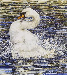 Discover original British paintings & artwork in our online Art Gallery collection. Use the test drive tool to see it on a living room or office wall. Watercolor Cat, Watercolor Animals, Swans, Weird Art, Online Art Gallery, Beautiful Birds, Japanese Art, Pet Portraits, Fine Art Prints
