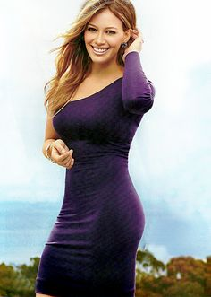 Hilary rocks it in this purple, one-sleeve dress.  For more Hilary Duff style inspiration, watch the latest episodes of Younger on TV Land  at http://www.tvland.com/shows/younger.