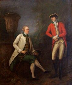 A Gentleman and an Officer of the 13th Regiment of Dragoons c 1768-1771 attr: Nathaniel Dance Holland