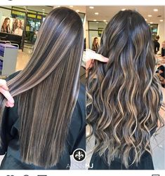 Black Coffee Hair With Ombre Highlights - 10 Cool Ideas of Coffee Brown Hair Color - The Trending Hairstyle Brown Hair With Blonde Highlights, Brown Hair Balayage, Brown Blonde Hair, Light Brown Hair, Hair Color Balayage, Brunette Hair, Hair Highlights, Ombre Hair, Aesthetic Hair