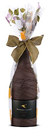 Chocolate Dipped Wine--Goosecross Wines--great gift idea:) The outside of the bottle is dipped in chocolate. It is gorgeous--been to this vineyard and saw it........divine:)