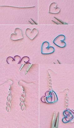 Handmade Wire Jewelry, Beaded Jewelry, Jewellery, Wire Crafts, Jewelry Crafts, Grunge Jewelry, Homemade Jewelry, Cute Jewelry, Funky Jewelry