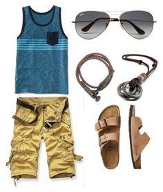 """toes"" by darrick-howard-ii on Polyvore featuring Old Navy, TravelSmith, Ray-Ban, men's fashion and menswear"