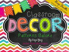 2nd Grade Shenanigans: Classroom Decor: Patterns Galore <3 this coordinating set!