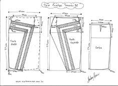Molde de Saia Envelope com Detalhes tamanho 52.