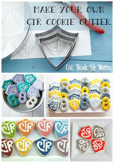 Make your own CTR shield cookie cutter. It isn't very hard! You'll be on your way to making adorable CTR sugar cookies. Mormon Baptism, Baptism Talk, Baptism Party, Boy Baptism, Lds Baptism Ideas, Baptism Food, Lds Baptism Program, 8th Birthday, Birthday Gifts