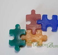 Dont' be puzzled, these vibrant, unscented soaps are great for special events or charity fundraisers. We can customize the colors for your event as well.