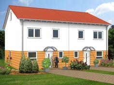 Ideal für Gemeinschaftsprojekte und kleine Grundstücke: Doppelhäuser mit #Satteldach! Mehr Informationen über Herwig #Haus und unsere #Massivhäuser gibt es unter: www.herwig-haus.de