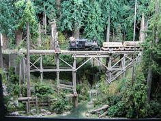 Logging Railroad   Logging Model Railroads   Small n Scale Train Layout