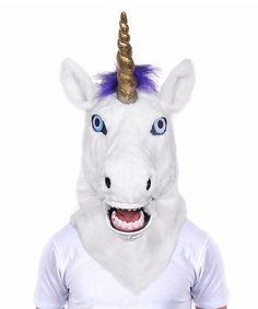 Unicorn Moving Mouth Mask #zulily #zulilyfinds
