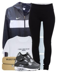 """Untitled #782"" by bunnybear02 ❤ liked on Polyvore featuring NIKE, WithChic, Calvin Klein Underwear, tarte, Helmut Lang and NARS Cosmetics"