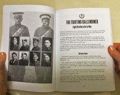 The Fighting Ballendines is the story of eight Metis brothers from Battleford, Saskatchewan who joined the Canadian Army in WW2, following in their father's footsteps. The story appears in my book titled My Favourite Veterans: True Stories From World War Two's Hometown Heroes. For more: www.elinorflorence.com/blog/army-aboriginal-family.