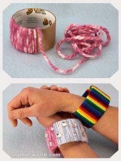 Cardboard Roll bracelet|sophie-world.com