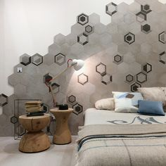Ragno's Rewind collection spoke to the geometry trend, the hexagon a particular favorite with many manufacturers.