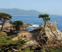 One of America's most scenic highways is the 17 mile Road on the Monterey Peninsula, CA on the way to Pebble Beach. See the 250 year old lone cypress tree. get a convertible and put the top down :) we did! Great Places, Places To See, Beautiful Places, Wonderful Places, Monterey Peninsula, California Travel, Carmel California, California Coast, Carmel By The Sea