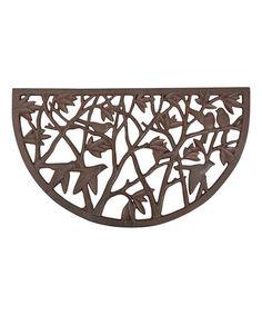 Loving this Bird Half-Round Cast Iron Doormat on #zulily! #zulilyfinds