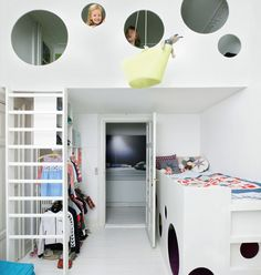 Kids Loft Beds with Creative Playroom